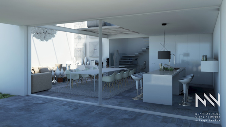 Balcones y terrazas de estilo moderno de ARTEQUITECTOS Moderno