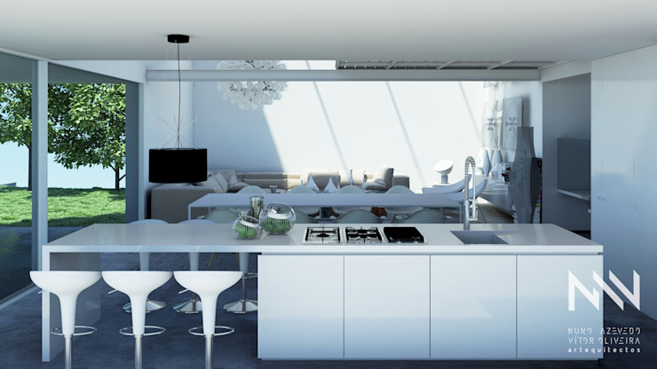 Modern kitchen by ARTEQUITECTOS Modern