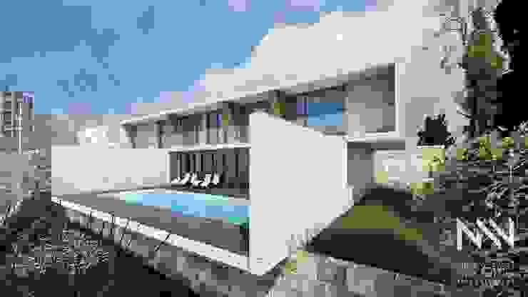 Habitação QE IF L3 Piscinas modernas por ARTEQUITECTOS Moderno