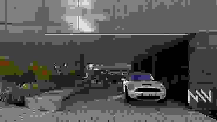 Fermentões Urbanização Garagens e arrecadações modernas por ARTEQUITECTOS Moderno