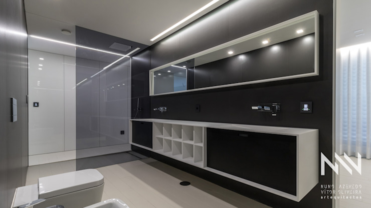 Habitação MS Casas de banho modernas por ARTEQUITECTOS Moderno