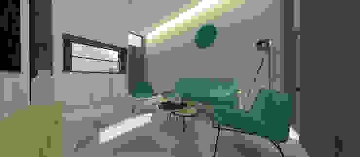 Amaranta Residence – 1st phase Ruang Keluarga Minimalis Oleh Studio Benang Merah Minimalis