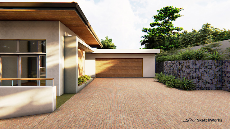 Currie Residence: tropical  by Sketchworks, Tropical