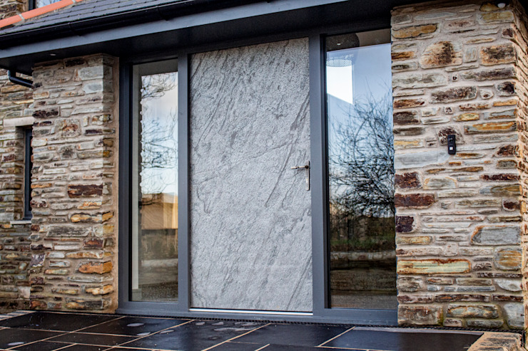 Slate Stone Entrance Door by Camel Glass Rustic Slate