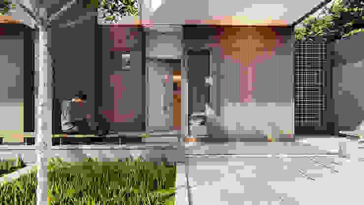 BAR Studio Benang Merah Balkon, Beranda & Teras Modern