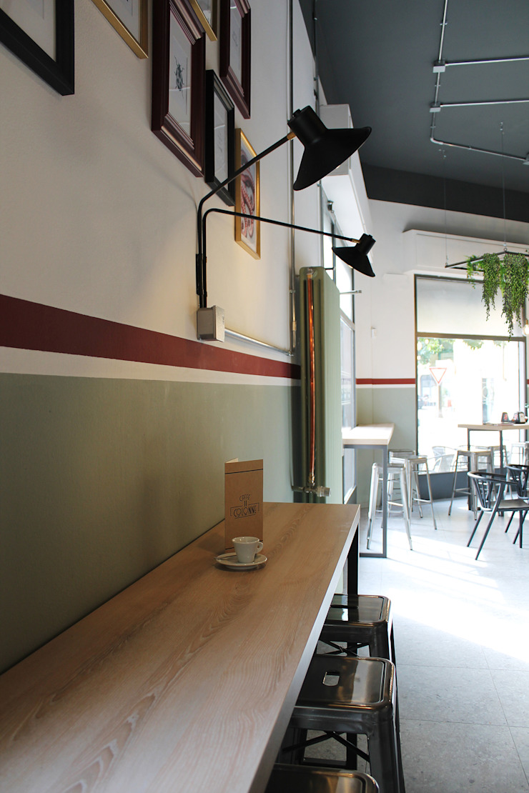 Bar II Colonne Sala da pranzo eclettica di ALMA DESIGN Eclettico