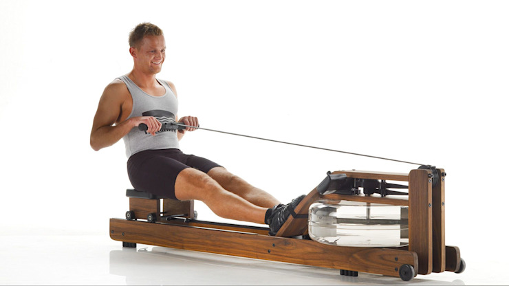 Walnut WaterRower (Classic) Scandinavian style gym by GymRatZ Gym Equipment Scandinavian Wood Wood effect