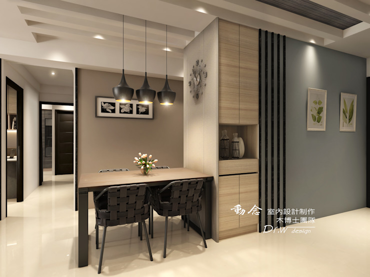 玄關 現代風玄關、走廊與階梯 根據 木博士團隊/動念室內設計制作 現代風
