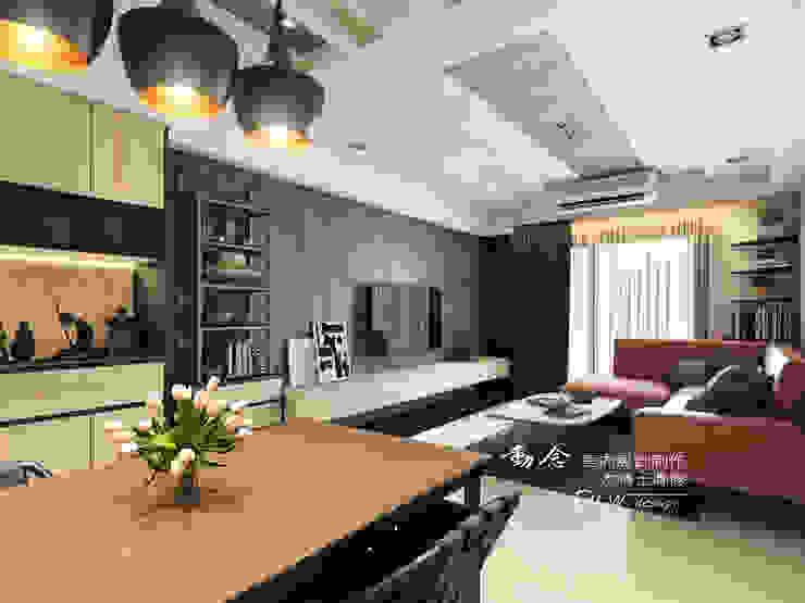 客廳 现代客厅設計點子、靈感 & 圖片 根據 木博士團隊/動念室內設計制作 現代風