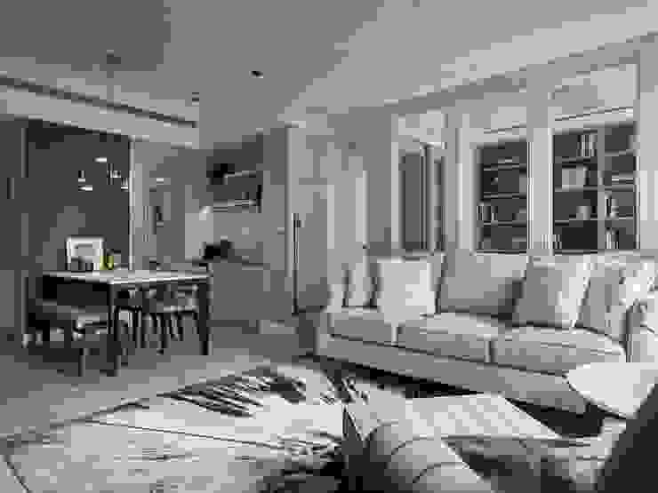 療癒系美式宅邸 现代客厅設計點子、靈感 & 圖片 根據 陶璽空間設計 現代風