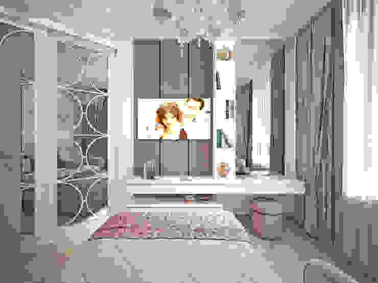 Спальня. Оформление стены напротив изголовья кровати. от Андреевы.РФ Классический