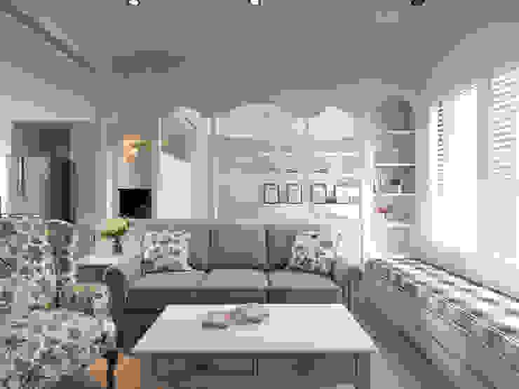 陶璽空間設計 Living roomShelves Wood White