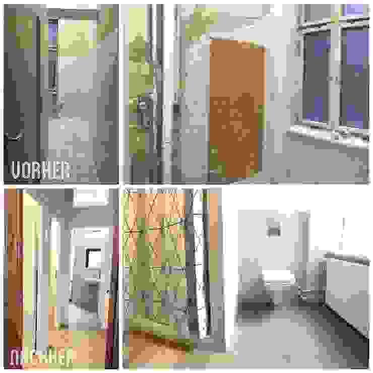 Vorher / Nachher - Sanitär Bereich: modern  von KHG Raumdesign - Innenarchitektin in Berlin und Umland, mgr. ing. Architektur Katharina Hajduk-Gast,Modern