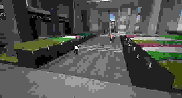Lippo Plaza Bangunan Kantor Modern Oleh ARLAN Landscape Architects Modern Granit