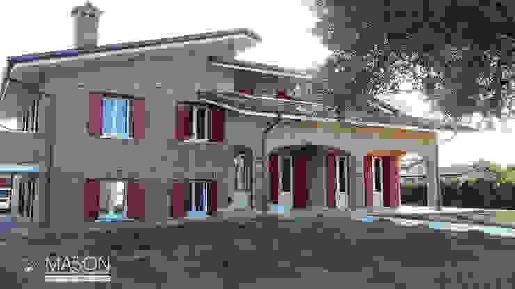 Realizzazione Falegnameria Artigiana Mason Balcone Legno Rosso