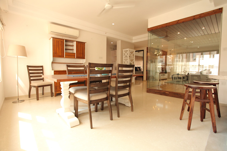 Dining Room Saloni Narayankar Interiors Dining roomChairs & benches Wood Beige