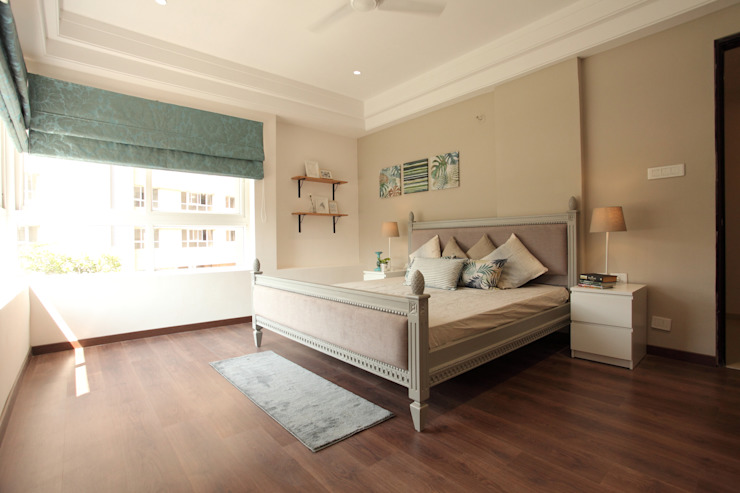 Master Bedroom Saloni Narayankar Interiors BedroomBeds & headboards Wood Grey