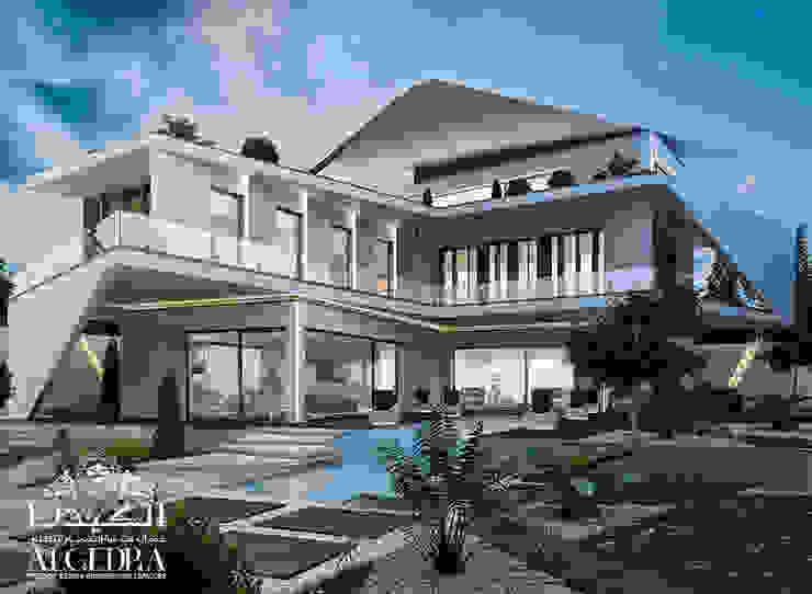 تصميم واجهة فيلا على الطراز الحديث من Algedra Interior Design حداثي