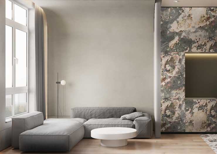 he.d group Living room Stone Grey