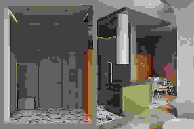 he.d group Scandinavian style corridor, hallway& stairs Green