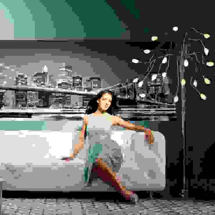 Papel Tapiz Brooklyn Bridge Decorex Paredes y pisos de estilo moderno
