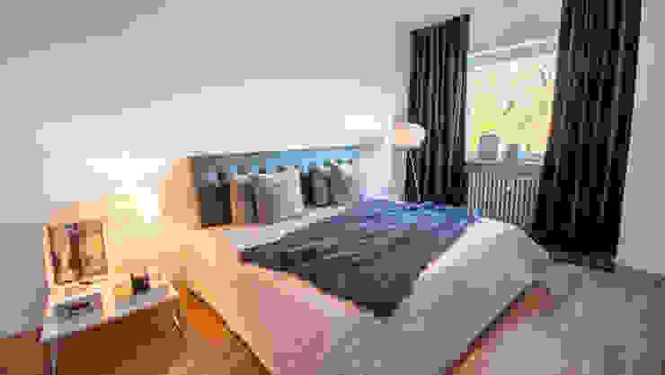 Münchner home staging Agentur GESCHKA Small bedroom Grey