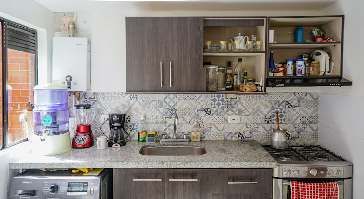 Cocina Después de ENSAMBLE de Arquitectura Integral