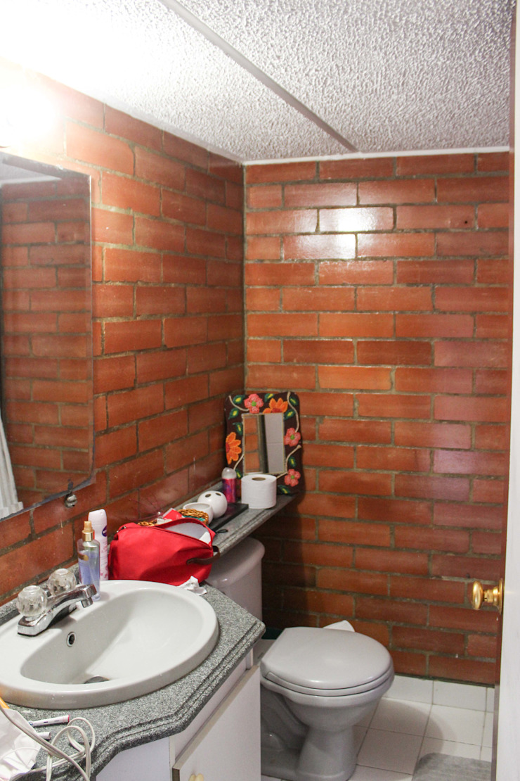 Baño Antes de ENSAMBLE de Arquitectura Integral