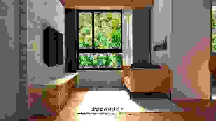 桃園力行路居家裝潢_客廳 根據 麗馨室內裝潢設計 LS interior design 日式風、東方風 木頭 Wood effect