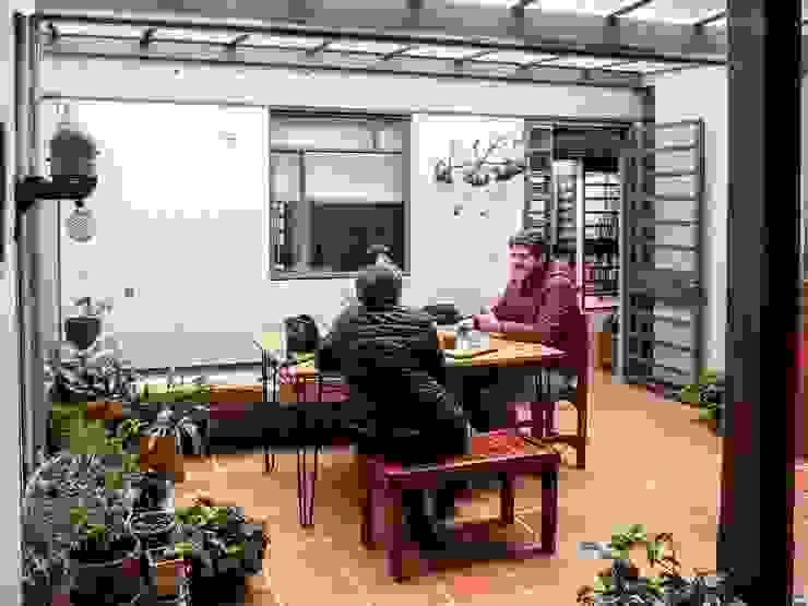 Patio Posterior antes Jardines de estilo minimalista de ENSAMBLE de Arquitectura Integral Minimalista