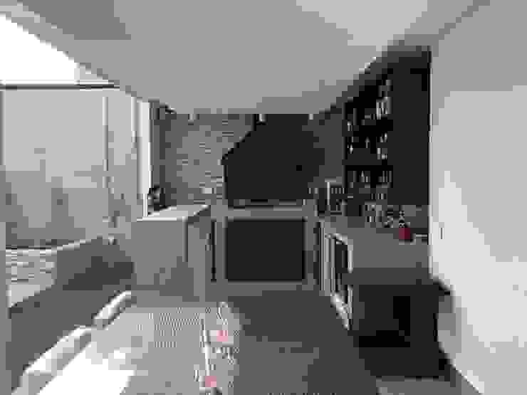 Śródziemnomorski balkon, taras i weranda od Triptico Diseño y Construcción Śródziemnomorski