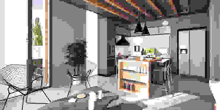 CM² Mimarlık ve Tasarım Stüdyosu – Teras Loft İç Mekan Tasarımı: modern tarz , Modern