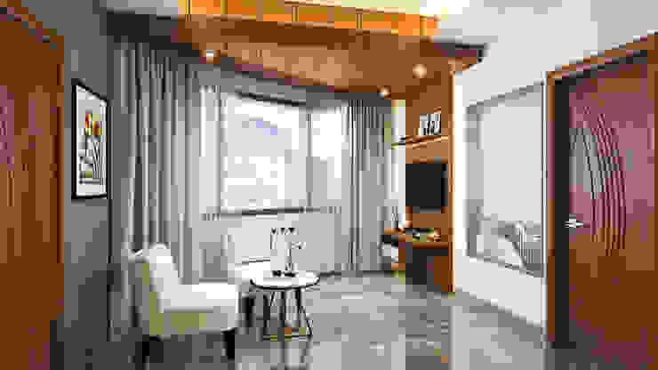 Residence Patel Nager Delhi Eagle Decor Modern style bedroom