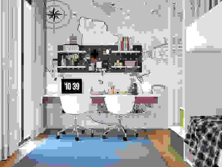 ArchSia – Çocuk odası çalışma masası: modern tarz , Modern Ahşap Ahşap rengi