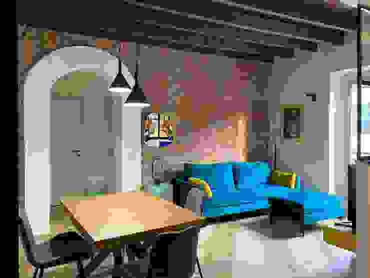 Zona Living Giorgio Gravina Soggiorno in stile industriale