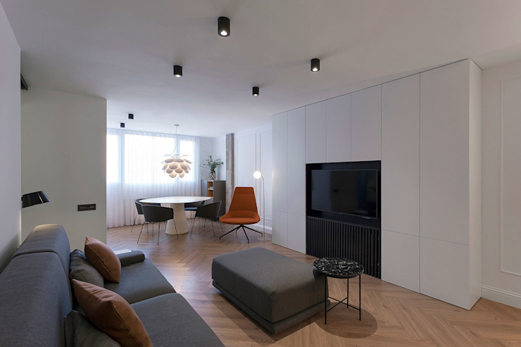 Luminoso salón-comedor Salones de estilo moderno de MANUEL GARCÍA ASOCIADOS Moderno