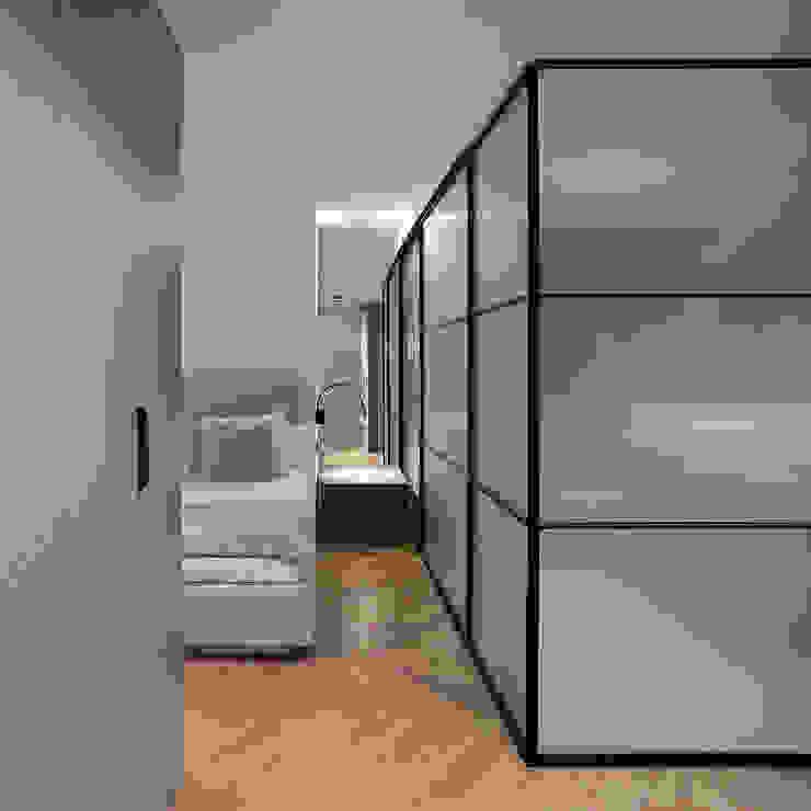 Dormitorio principal con baño integrado Dormitorios de estilo moderno de MANUEL GARCÍA ASOCIADOS Moderno