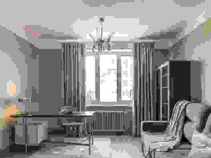 Кабинет Рабочий кабинет в стиле минимализм от Дизайн-бюро Елены Риман и Анны Красавиной Минимализм