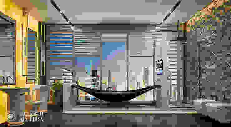Bathroom design in luxury penthouse Modern Bathroom by Algedra Interior Design Modern