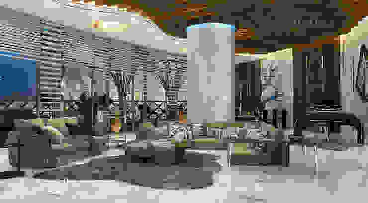تصميم غرفة معيشة في بنتهاوس فاخر من Algedra Interior Design حداثي