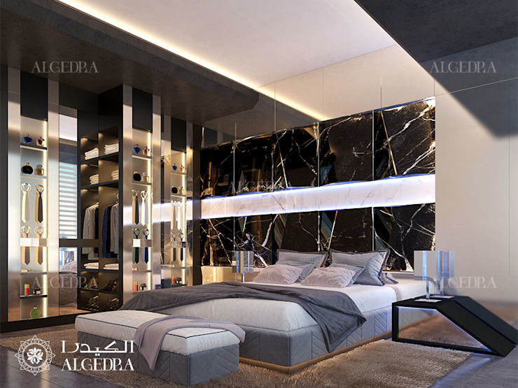 تصميم غرفة نوم في بنتهاوس بدبي من Algedra Interior Design حداثي