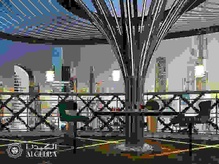 Penthouse terrace design in Dubai Modern Terrace by Algedra Interior Design Modern