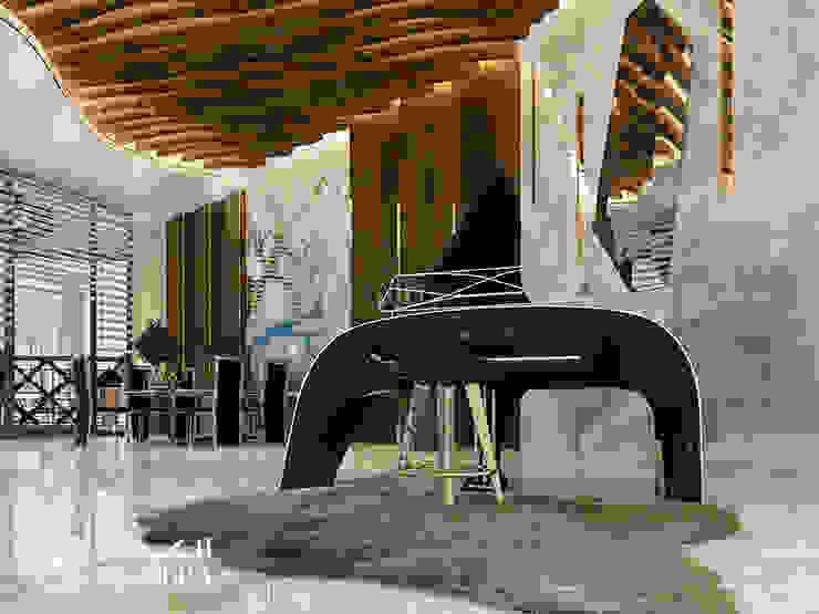 Penthouse interior design in Dubai Modern Living Room by Algedra Interior Design Modern
