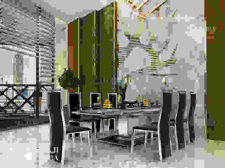 تصميم منطقة تناول الطعام ببنتهاوس في دبي من Algedra Interior Design حداثي