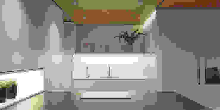 Vista frontal de la cocina de MANUEL GARCÍA ASOCIADOS Moderno