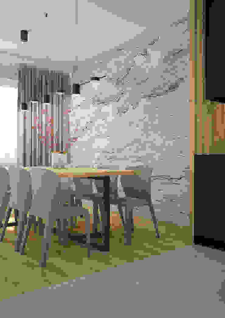 Nevi Studio Comedores de estilo moderno Blanco