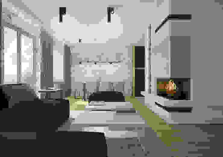 Nevi Studio Livings de estilo moderno Concreto Blanco