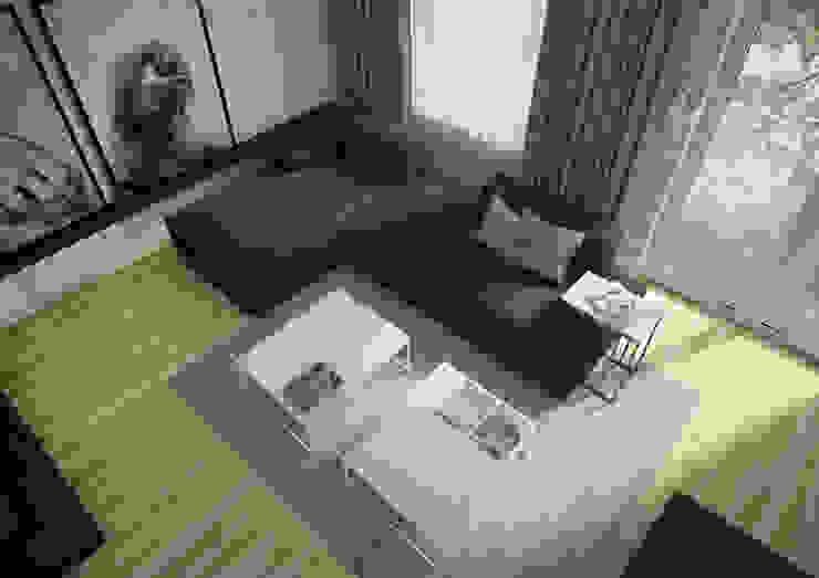 Nevi Studio Livings de estilo moderno Concreto Negro