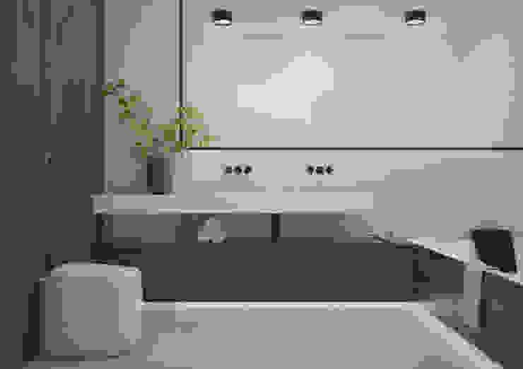 Nevi Studio Baños de estilo moderno Madera Marrón