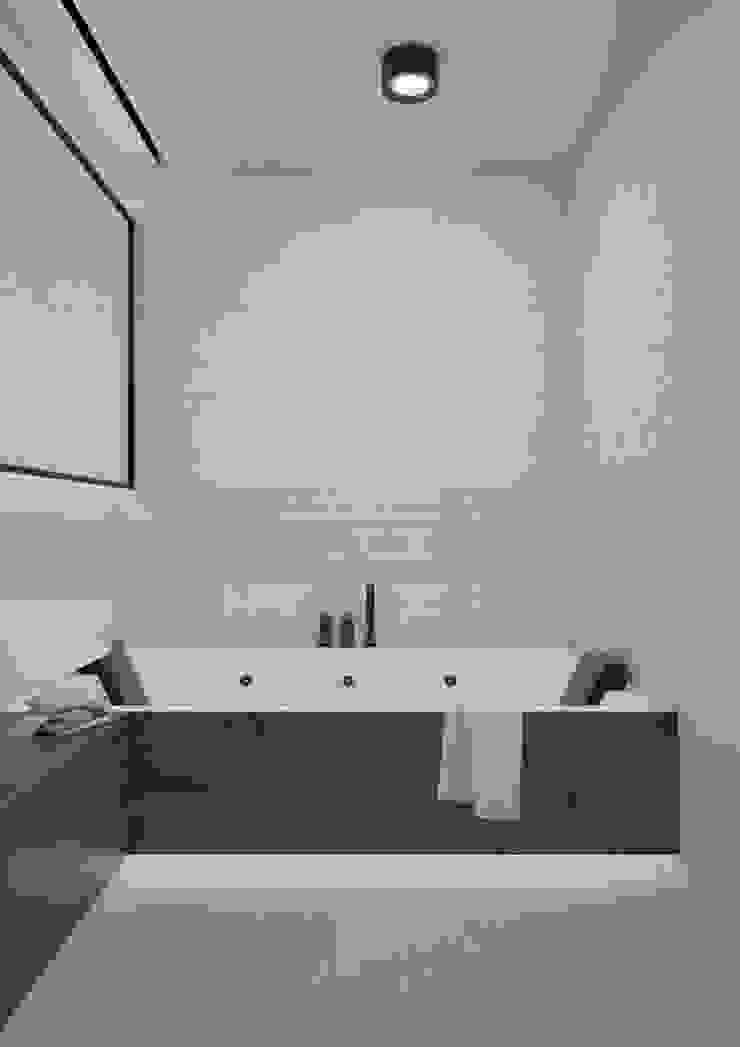 Nevi Studio Baños de estilo moderno Cerámico Beige